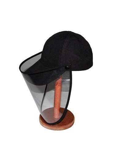 Bay Şapkacı Bay Şapkaci Koruyucu Yüz Siperli Siyah Şapka Siyah